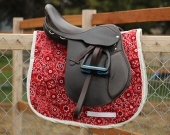 Red Bandana Saddle Pad