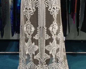 beautiful lace, lace from viscose / nylon, fabric wedding dress wedding dress wedding Bohemian, 130 cm wide