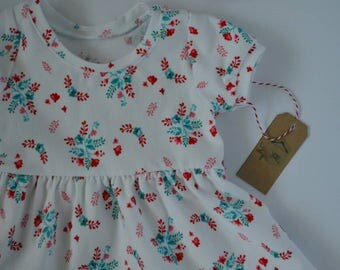 Floral dress - Baby dress - Girl dress - white baby dress