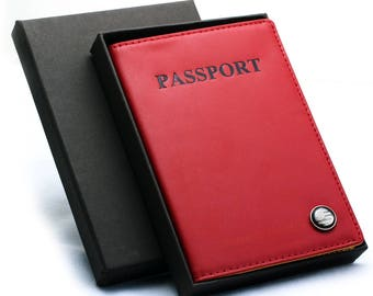 Free Engraving - Genuine Leather Passport, Personalized Passport, Passport Holder, Leather Passport, Engraved Passport,women passport holder