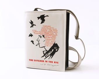 The Catcher In The Rye Book Bag Black Leather Book Purse