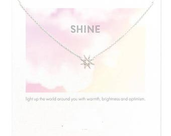 Handmade Silver Plated Shine Necklace