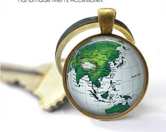 World map key ring etsy world map key ring world map world globe modern world map gift gumiabroncs Image collections