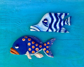 Woodcarved fish 25.00 each