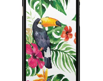 Case Iphone 4, 5, 6, 7 Tropical 002 black edges