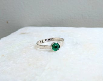 Harry Potter Always Ring.  Slytherin Ring.  Severus Snape Always Promise Ring.  Gifts for Potterheads.  Nerdy Promise Ring.