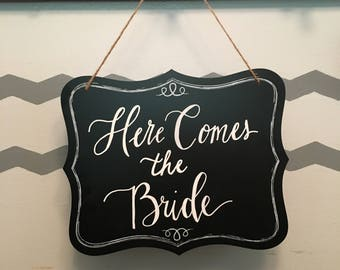 Wedding calligraphy chalkboard sign