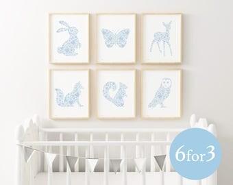 Nursery decor, woodland nursery, nursery print, woodland nursery decor, nursery animal print, nursery wall art, nursery animal art, animals