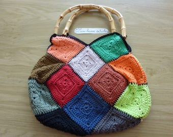 colorful crochet in granny bag