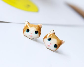 cuty cat earrings