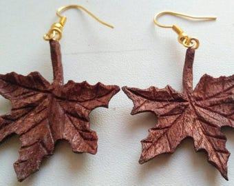 "Earrings ""Maple leaf"""