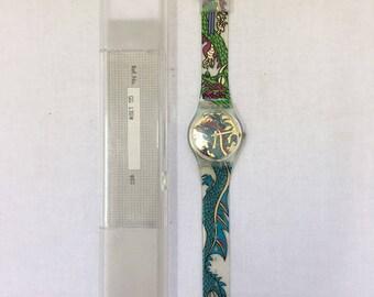 Swatch Quartz model Green Dragon (GG135) year 1995 Vintage collection