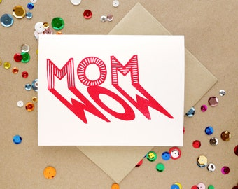 Linocut Greeting Card //  Mother's Day Card // Card for Mum // Mom