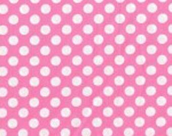 Candy Pink Ta Dots Fabric - Michael Miller Fabric