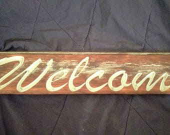 Welcome Sign from reclaimed Cedar