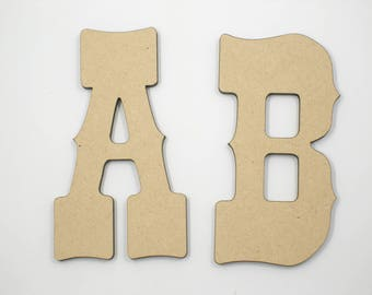 5cm MDF Wood Wooden Letters 3mm Thick WES