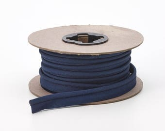 """Broadcloth cord piping, 1/2"""" Wide, 25 yds, Navy"""