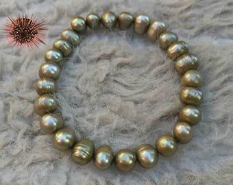 Genuine Pearl Bracelet Gold