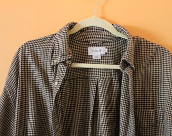 Vintage Houndstooth J. Crew Cotton Oxford