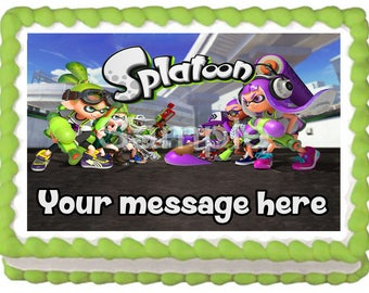 SPLATOON Edible cake topper party image decoration