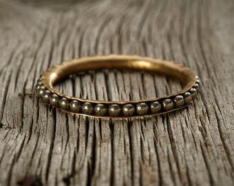 Pyrite Brass Bangle