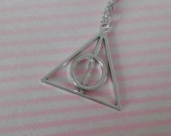 Harry potter Deathly Hallows deathly hallows symbol necklace