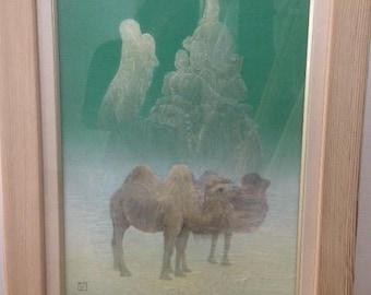 Masanori Maeda,original water painting,