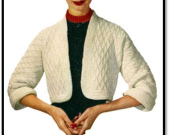 Madison Shrug Pattern, Crochet Pattern, Vintage Pattern, Retro, Small Medium and Large