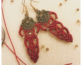 Rome earrings - micro macrame