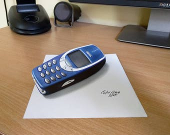 3D Nokia 3310 drawing
