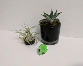 Green Alien Pin