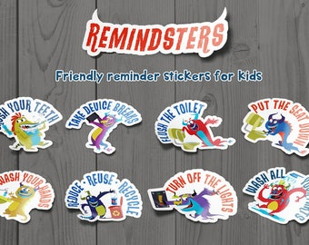 Remindsters - Those little monster stickers that remind kids to do important stuff