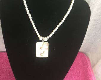 Pearly series Chantal N 2 silver pendant