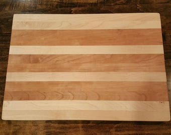 Hard Maple and Cherry Cutting Board