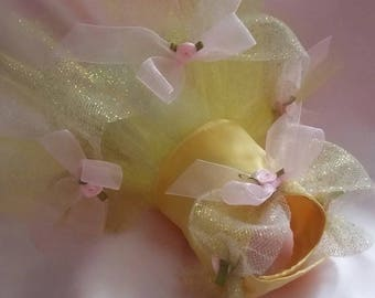 Princess Belle Inspired Tutu custom made with your measurements up to an 18 inch girth