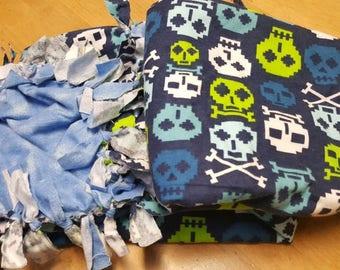 Rag tied skull blanket