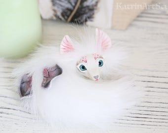 Butterfly Fox fantasy art toy polymer clay ooak doll handmade creature beast