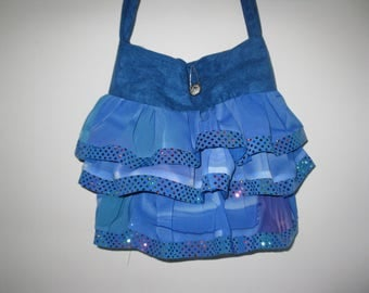 Royal Blue Ruffle bag purse