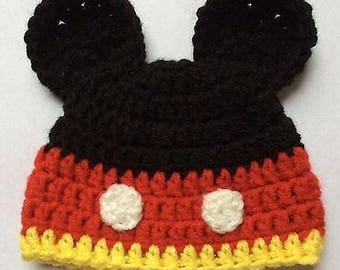 Sweet Baby Mickey Mouse Inspired Hat