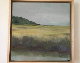 Original Oil Painting, River Grasses