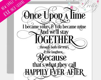 Once Upon a Time large greeting card