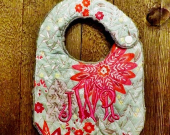 Floral Monogrammed Big with Minky