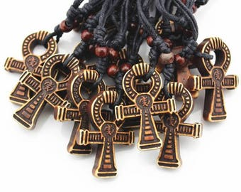 Ankh Yak Bone Necklace