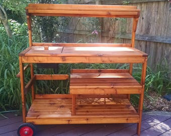 Cedar Potting Bench - 36 Inch Wide