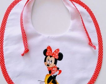 Hand painted bib Minnie