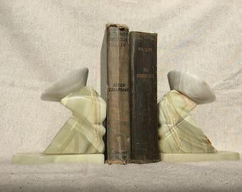 Vintage Marble Mexican Bookends