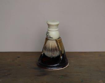Coffee and Cream Wet Shaving Brush Stand - UK