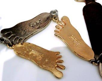 Rare Rafael Modernist Mid Century Key Ring Chain Fob Canada Quebec MCM Metalsmith Artisian
