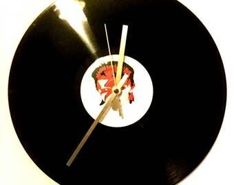 David Bowie Vinyl Clock 12 inch