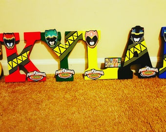 Kustom Made Power Rangers Letters
